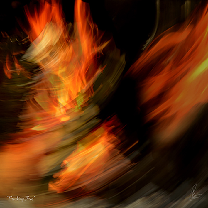 BREAKING FREE Photographic art by Loek van Walsem In a fierce and fiery twirl, she made her wish and broke loose to become… Her magnificent self.