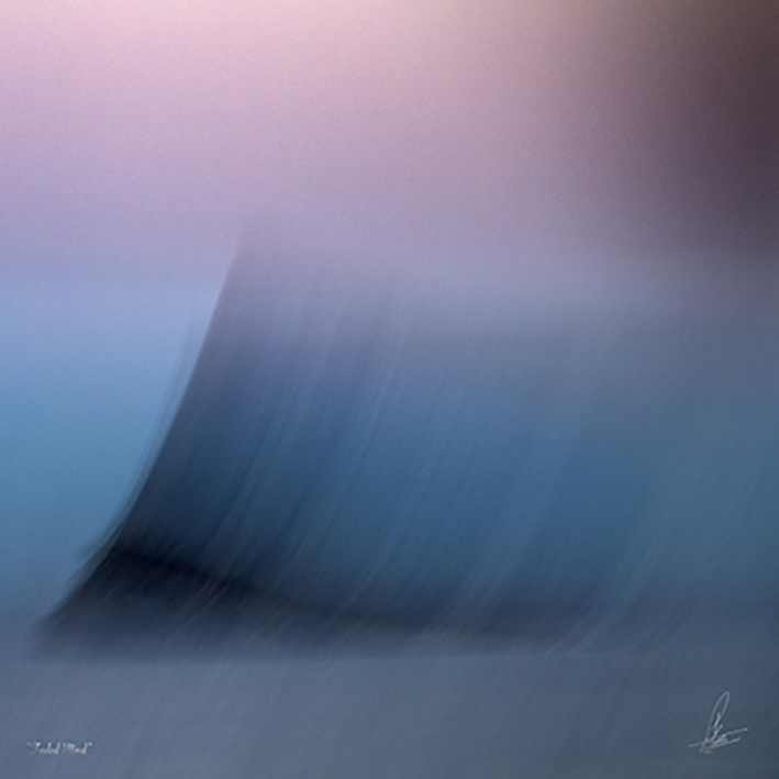 -FADED MIND- Out of the sea of wisdom, sanity slowly drifts away into a pink cloud of oblivion. -Limited Photographic Art by Loek van Walsem -