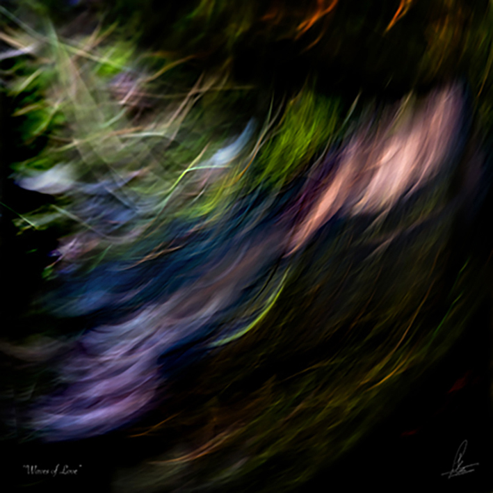 WINGS OF LOVE limited Photographic art by Loek van Walsem Darkness differs where love glides